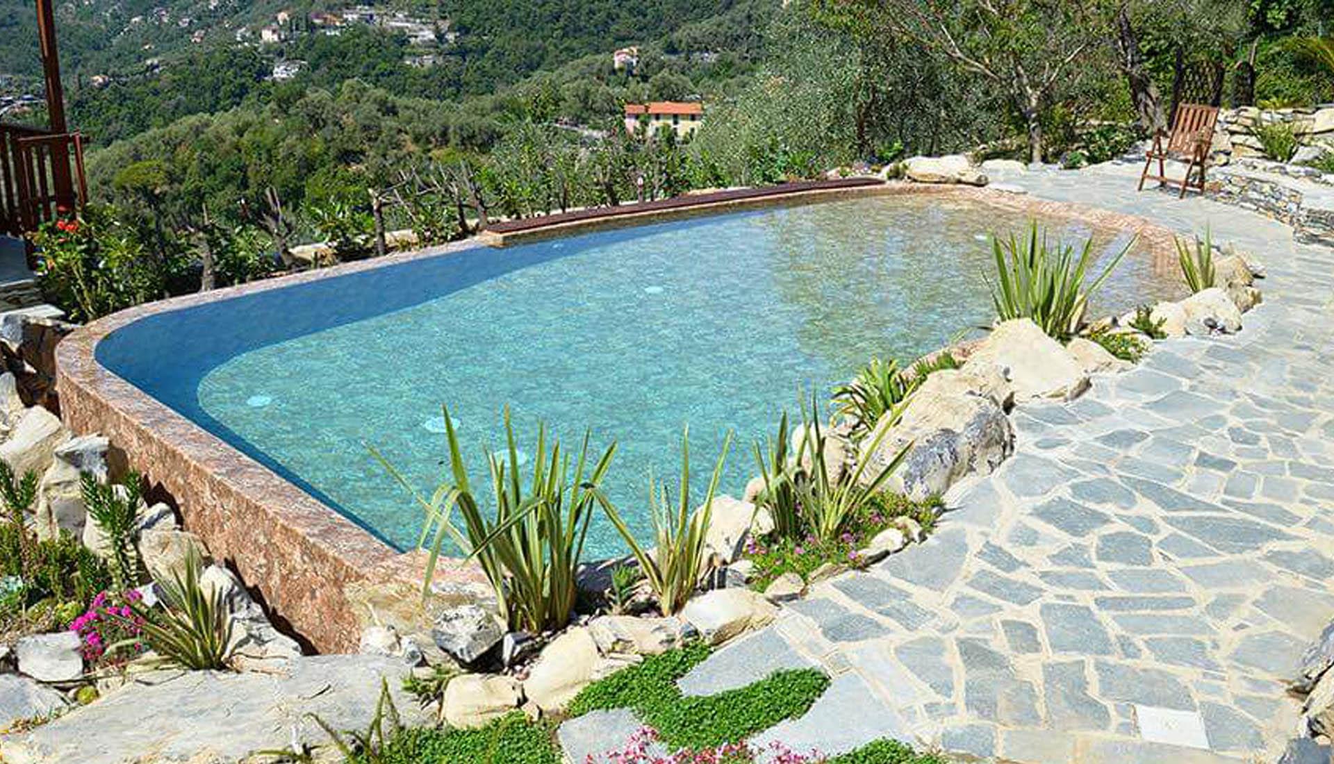 Piscina Su Terreno In Pendenza piscine interrate private   picasso genova   materie